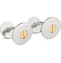 Alfred Dunhill Two Tone Cufflinks Silver