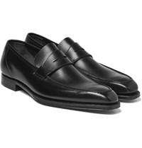George Cleverley Leather Penny Loafers Black