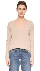 Jenni Kayne Cashmere V Neck Sweater Latte