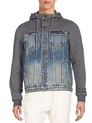 Cult Of Individuality Heritage Hooded Denim Jacket Blue