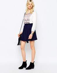 Only Magusti Skater Skirt Peatcoat Blue