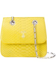 Mark Cross Classic Shoulder Bag Women Leather Python Skin One Size Yellow Orange