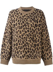 Alexander Wang Leopard Print Sweater Brown