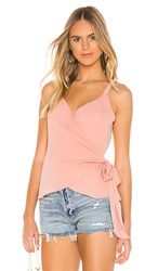 Krisa Wrap Tank In Peach. Sherbet