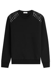 Thierry Mugler Mugler Cotton Pullover With Safety Pins Black