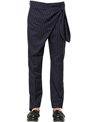 J.W.Anderson Knot Pinstriped Wool Pants