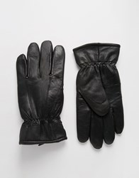 Peter Werth Leather Gloves Blue