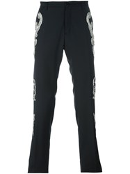 Christian Pellizzari Sequined Applique Trousers Black