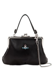 Vivienne Westwood Emma Soft Leather Top Handle Bag Black
