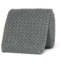 Berluti 7Cm Knitted Silk Tie Gray