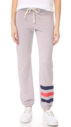 Sundry Stripe Sweatpants Heather Grey