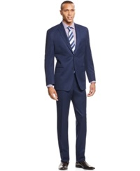 Sean John Blue Small Dot Classic Fit Suit
