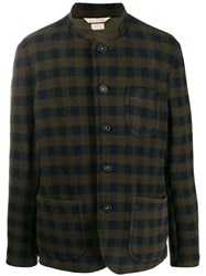 Massimo Alba Check Print Knit Jacket Brown