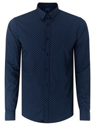 Scotch And Soda Long Sleeve Poplin Geo Print Slim Shirt Combo E