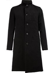 Individual Sentiments Mandarin Collar Coat Black