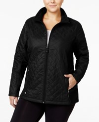 Ideology Plus Size Quilted Jacket Only At Macy's Noir
