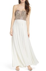 Xscape Evenings Women's Embellished Strapless Gown