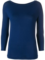 Stefano Mortari Classic Fitted Top Blue