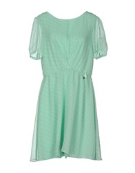 Fornarina Short Dresses Light Green