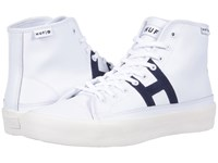 Huf Hupper 2 Hi White Navy Skate Shoes