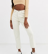 Missguided Tall Wrath Straight Leg Jeans In Ecru Cream