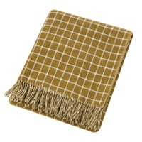 Bronte By Moon Athens Merino Lambswool Throw Gold