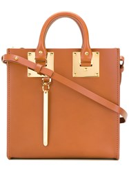 Sophie Hulme Mini Albion Tote Women Calf Leather Suede One Size Brown