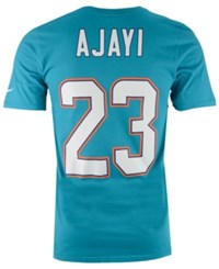 Nike Men's Jay Ajayi Miami Dolphins Pride Name And Number T Shirt Aqua