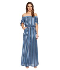 Catherine Malandrino Rosina Jumpsuit Chain Stripe Blue Women's Jumpsuit And Rompers One Piece