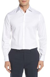 Ike Behar Big And Tall Regular Fit Solid Dress Shirt White