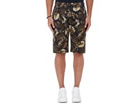 Vince. Men's Tropical Leaf Print Cotton Shorts Navy