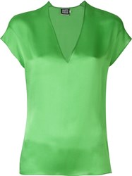 Fausto Puglisi V Neck Shortsleeved Top Green