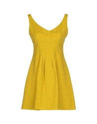 Max And Co. Short Dresses Yellow