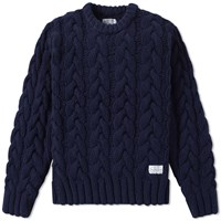 Neighborhood Fisherman Cable Knit Blue