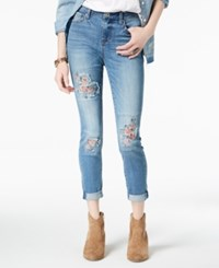 American Rag Juniors' Embroidered Skinny Jeans Atticus Wash