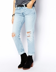 Pepe Jeans Jamee Boyfriend Jeans With Holes Blue