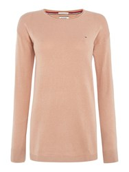 Tommy Hilfiger Thdw Basic Scoop Neck Sweater Pink