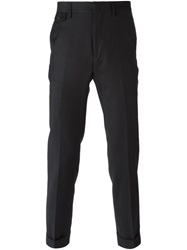 Mauro Grifoni Cuffed Slim Trousers Black
