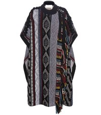 Chloe Wool Mohair And Cashmere Blend Cape Multicoloured