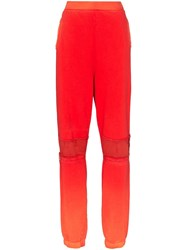 Ambush Bleach Patchwork Track Pants Orange