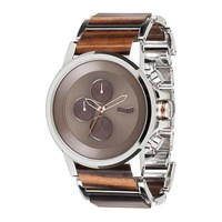 Vestal Plexi Wood Watch Silver Rosewood