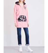 Aape By A Bathing Ape Longline Cotton Blend Hoody Pink