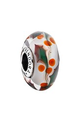 Pandora Design Women's Pandora 'Christmas Holly' Murano Glass Bead Charm