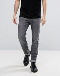 Allsaints Jeans In Slim Straight Fit Grey Grey