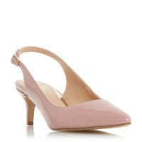 Head Over Heels Corrin Pointed Toe Kitten Heel Shoes Dusty Pink