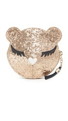 Furla Allegra Glitter Coin Case Gold