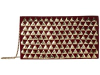 San Diego Hat Company Bsb3550 Gold Pyramids On Velvet Clutch With Hidden Gold Chain Red Clutch Handbags
