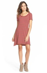Junior Women's Element Stripe Hooded Dress