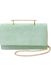 M2malletier Alexia Suede And Leather Shoulder Bag Mint