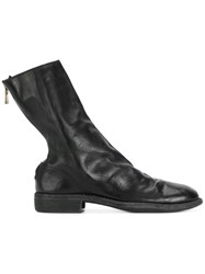 Guidi Zipped Sock Boots Black